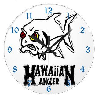 怒っているハワイのチョウチンアンコウ ラージ壁時計