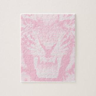怒っているピンクのトラの水平線 ジグソーパズル