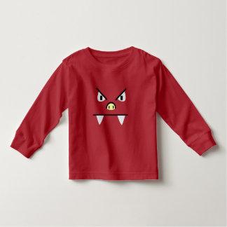 怒っているブタモンスター トドラーTシャツ