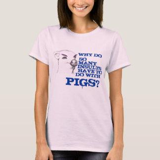 怒っているブタ Tシャツ
