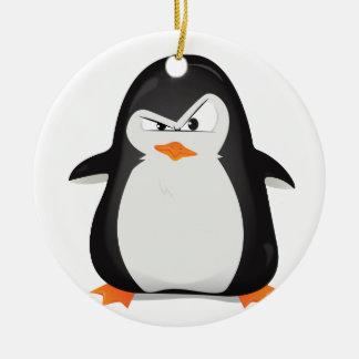 怒っているペンギン セラミックオーナメント