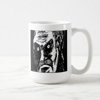 怒っている凝視の喜劇的な顔 コーヒーマグカップ