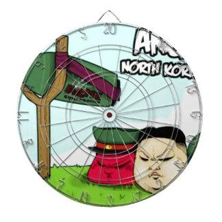 怒っている北朝鮮人 ダーツボード
