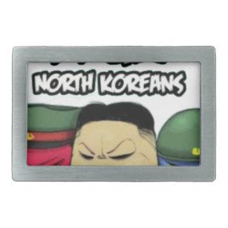 怒っている北朝鮮人 長方形ベルトバックル