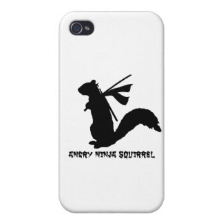怒っている忍者のリスのコレクション iPhone 4/4S CASE
