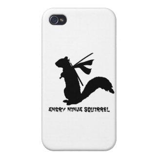 怒っている忍者のリスのコレクション iPhone 4/4S COVER