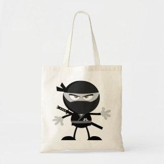 怒っている忍者の戦士のトートバック トートバッグ