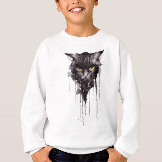 怒っている猫のTシャツ スウェットシャツ