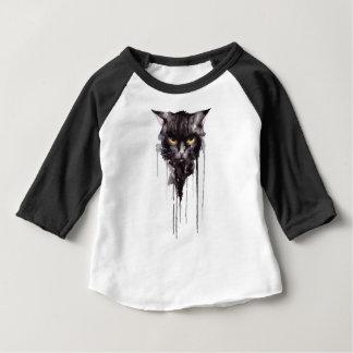 怒っている猫のTシャツ ベビーTシャツ