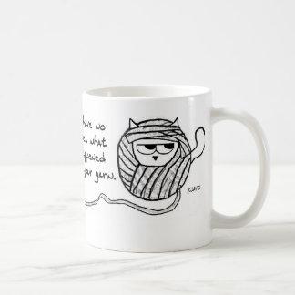 怒っている猫はヤーンを好みます コーヒーマグカップ
