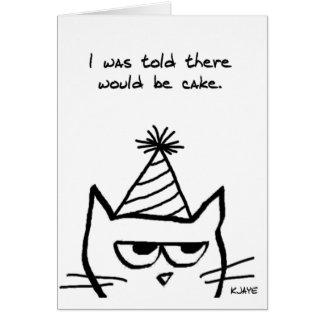 怒っている猫は誕生日を憎みます カード