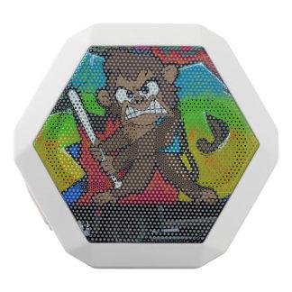 怒っている猿の落書きのスピーカーのboombox ホワイトBluetoothスピーカー