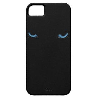 怒っている目のネコ科のiPhone 5の黒い箱 iPhone SE/5/5s ケース
