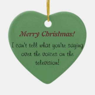 怒っている耳が聞こえない: クリスマスの耳が聞こえない認識度 セラミックオーナメント