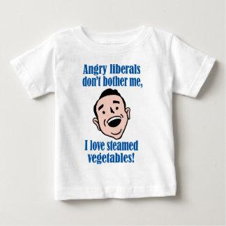 怒っている自由主義者対蒸気を発した野菜 ベビーTシャツ