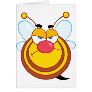 怒っている蜂蜜の蜂の挨拶状 カード