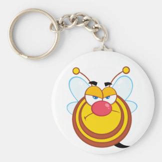 怒っている蜂蜜の蜂Keychain キーホルダー