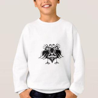 怒っている表現のスケッチを持つファンタジーの鳥 スウェットシャツ