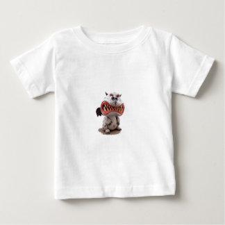 怒っている開いた口のにやにや笑いの灰色のドラゴン ベビーTシャツ