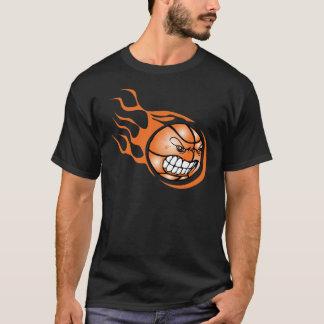 怒っている非常に熱いバスケットボール Tシャツ