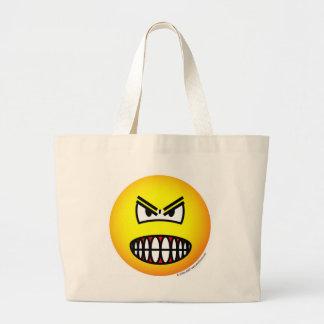 怒っている顔文字 ラージトートバッグ