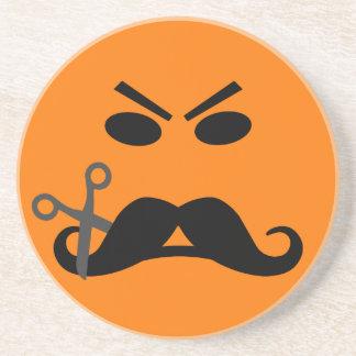怒っている髭のスマイリーのコースター コースター