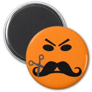 怒っている髭のスマイリーの磁石 マグネット