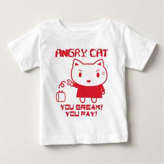 怒っているCAT ベビーTシャツ
