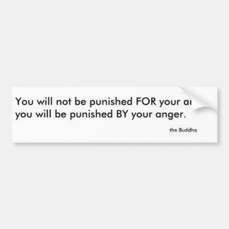 怒りの仏のアドバイス バンパーステッカー