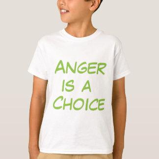 怒りは選択です Tシャツ