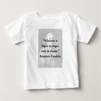 怒り-ベンジャミン・フランクリンで始められる ベビーTシャツ