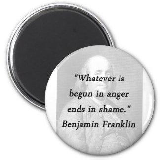怒り-ベンジャミン・フランクリンで始められる マグネット