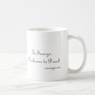 、思いがけなく熱狂するため居眠りするため、-匿名 コーヒーマグカップ