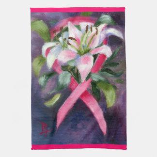 思いやりがある乳癌の認識度手タオル キッチンタオル