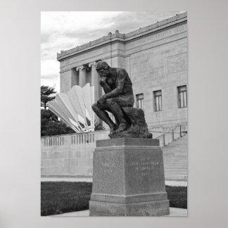 思想家およびShuttlecock、カンザスシティB/W ポスター