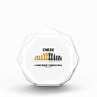 思想家が支配するところチェスゲーム(チェスのこまセット) 表彰盾