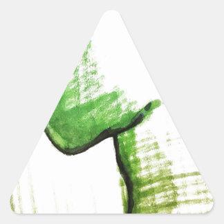 思想家の孤独 三角形シール