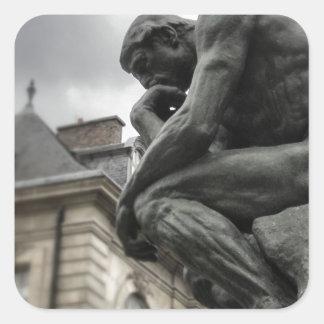 思想家のRodinパリの彫刻 スクエアシール