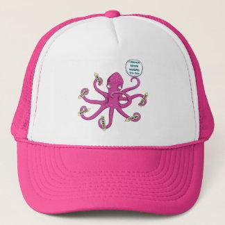 思慮深いピンクのタコ-私は行くために決してどこに知りません キャップ