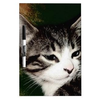 思慮深い子ネコ ホワイトボード