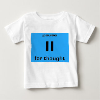 思考のギークのユーモアのための休止それ労働者 ベビーTシャツ