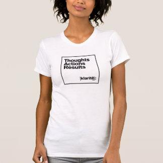 思考の行為の結果 Tシャツ