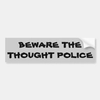 思考の警察を用心して下さい バンパーステッカー