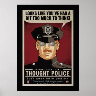 思考の警察ポスターを考えるあまり ポスター