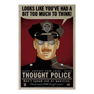 思考の警察ポスター ポスター
