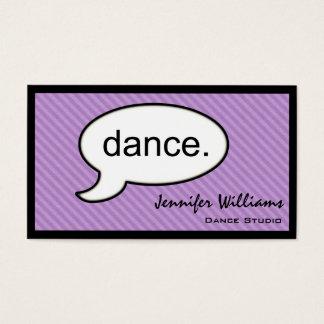 思考の雲のダンスのダンサーの名刺 名刺