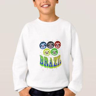 怠惰はカが付いているブラジル2016年に直面します スウェットシャツ
