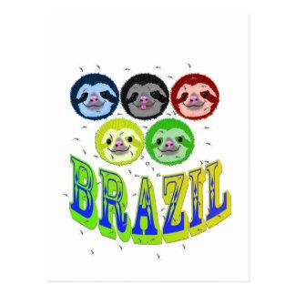 怠惰はカが付いているブラジル2016年に直面します ポストカード