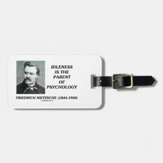 怠惰は心理学Nietzscheの親です ラゲッジタグ