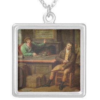 怠惰1818年 シルバープレートネックレス